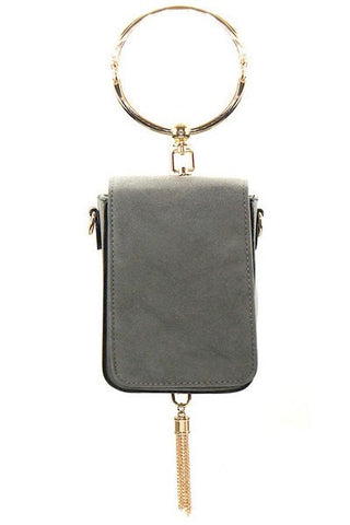 Rectangular Handbag with Round Handle