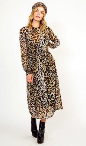 Stephany Cheetah Maxi Dress