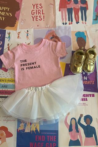 The Present is Female Infant/toddler Tshirt