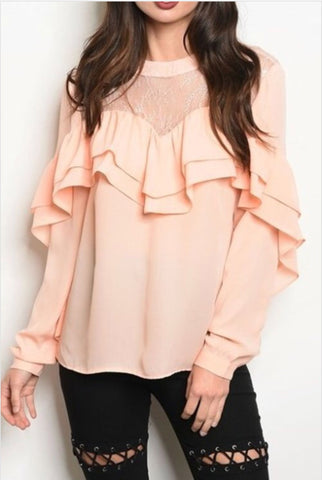 Ingrid Ruffle Top