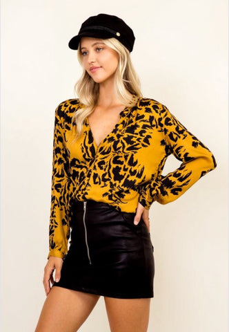 Jenay Cheetah Blouse