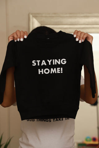 Staying Home Kid's Sweatshirt