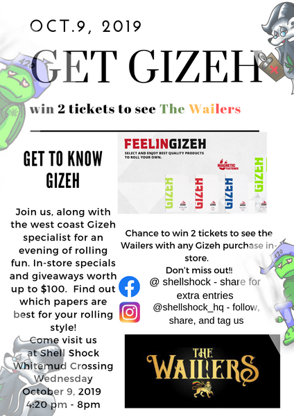 Gizeh Rolling Papers Events Edmonton Canada