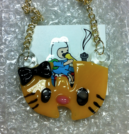 Wu-Kitty Yellow Pendant - Shell Shock