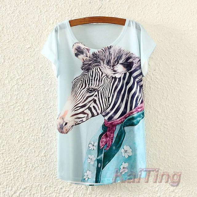 KaiTing Cute Printed Vintage T-Shirt - 80 Or Less - Buy Everything for $80 Or Less