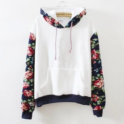 Long Sleeves Floral Hoodie - 80 Or Less - Buy Everything for $80 Or Less