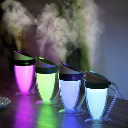 LED Ultrasonic Aromatherapy Diffuser Mist USB Air Humidifier