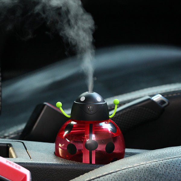 260ml Ladybug LED Diffuser Portable Mini USB Air Humidifier