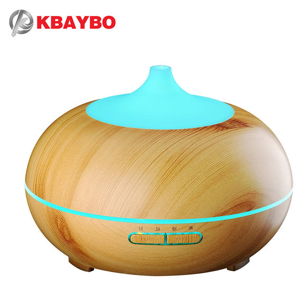 300ml Wood Grain Aromatherapy  Diffuser Cool Mist Humidifier