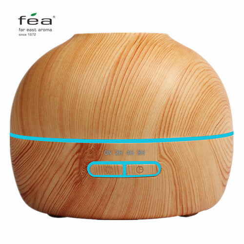 300ml Wood Grain LED USB Diffuser Cool Mist Humidifier