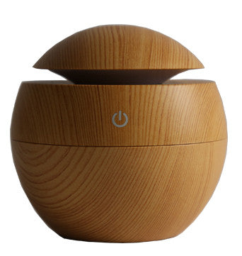 Wood LED Ultrasonic Portable Mini USB Air Humidifier