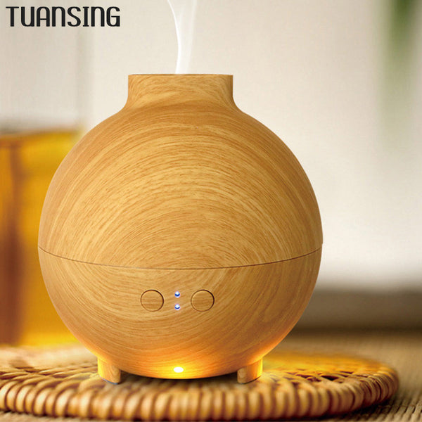 625ml Wood Grain Aromatherapy Diffuser Mist Maker Humidifier