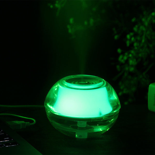 Crystal Night Light Ultrasonic Mist Maker USB Air Humidifier