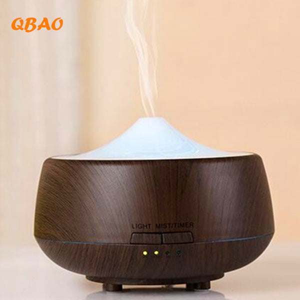 250ml Wood Grain LED Ultrasonic Diffuser Mist Humidifier