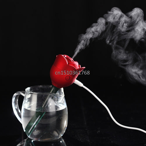 Mini Rose USB Diffuser Atomizer Air Humidifier Purifier