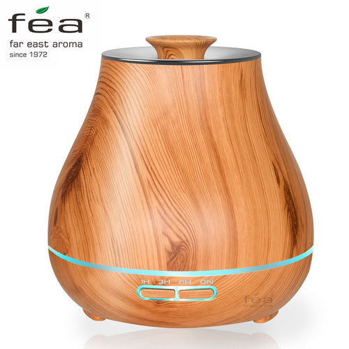 400ml Wood Grain Essential Oil Cool Mist Diffuser Humidifier