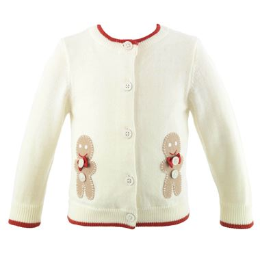Gingerbread Applique Cardigan