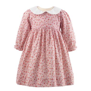 Floral Peter Pan Collar Dress - Pink