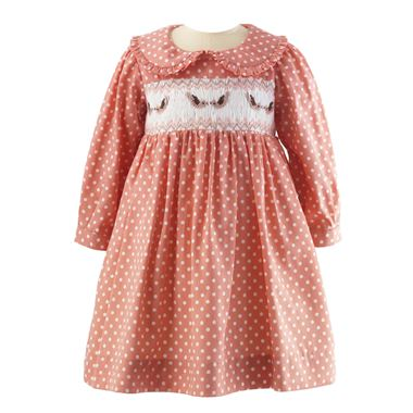 Bird Smocked Dress & Bloomers