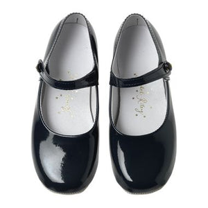 Button Strap Slippers - Navy