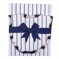 Baseball Fabric Burp Pad & Drooler Bib Set
