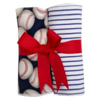 Baseball Set of 2 Fabric Burp Pads