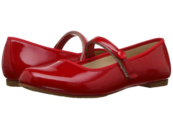Princess Flat- Patent Red (1137)