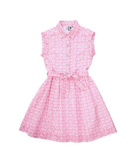 Alice Shirtdress - Pink Fan