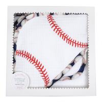 Baseball Hooded Towel & Washcloth Box Set