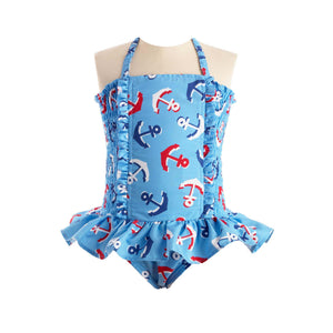 Anchor Ruched Swimsuit