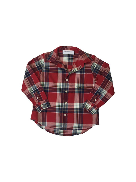 Plaid Long Sleeve - Red Plaid