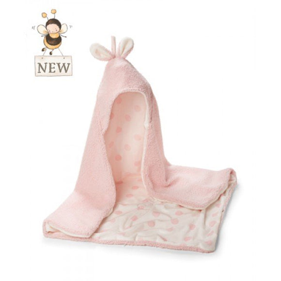 Bunny Hooded Blanket - Pink