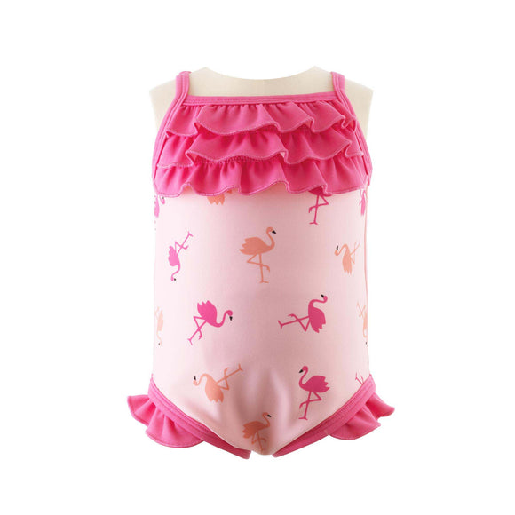 Flamingo Frill Swimsuit