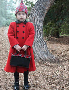 New York Wool Coat - Red/Black