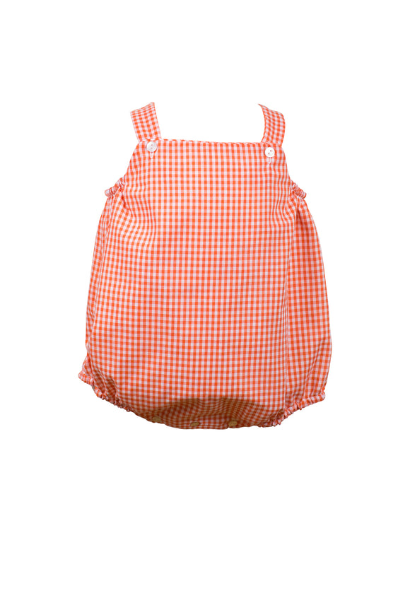 Orange Gingham Sunsuit
