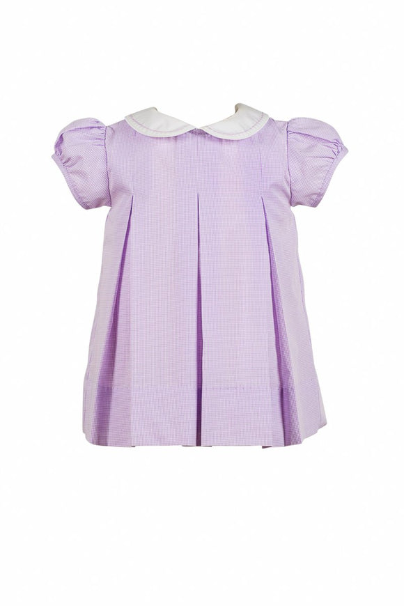 Peony Pleat Dress, lavender