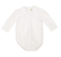 Beatrice Bow Blouse - Worth Avenue White