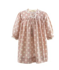 Lace Trim Poka Dot Dress & Bloomers