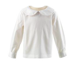 Long Sleeve Peter Pan Collar Shirt - Ivory