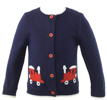 Toy Train Applique Cardigan