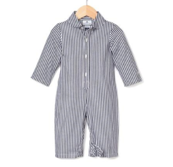 Navy Bengal Striped Romper