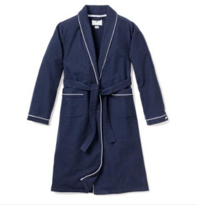 Navy Flannel Robe