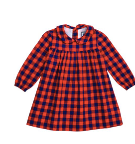Ginny Dress - Red Navy Buffalo Check