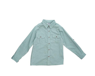Reece Camp Shirt - Green Mini Check