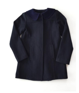 Inaugural Coat - Navy Blue Wool