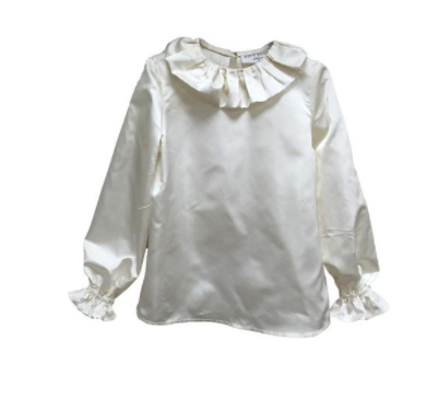 Satin Blouse - Ivory Satin