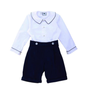 Prince Andrew Short Set - White & Navy