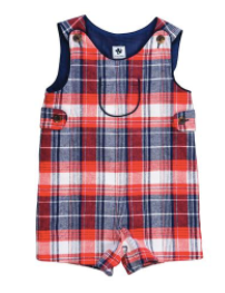 Jack Shortall - Red, Navy, & Cream Plaid