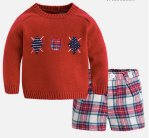 Red Prep Plaid Set