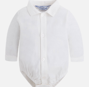 Benjamin's Button Down - White